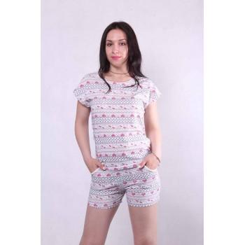 """Літня жіноча піжама футболка з шортами """"Kitty"""" р.42-54"""