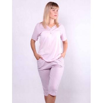 Женская пижама футболка с бриджами р. 44-56
