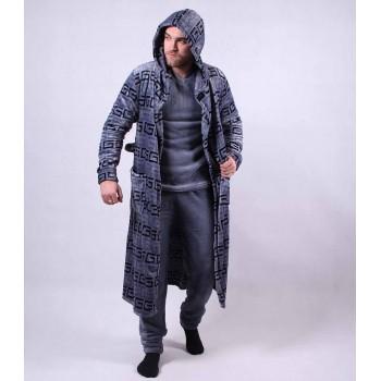 """Мужская махровая пижама c халатом """"Версачи""""  р.48-56"""