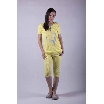 """Женская пижама футболка с бриджами """"Kat2"""" р. 44-50"""